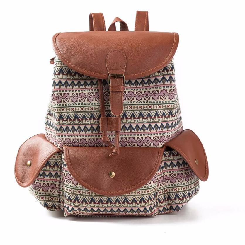 b9aa607fa25fa Women Canvas Backpack National Printing Bag Vintage BackpackTravel Backpack  Bayan Sirt Cantasi-in Backpacks from Luggage & Bags on Aliexpress.com |  Alibaba ...