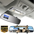 2.7 Inch Car Camera DVR Dual Lens Rearview Mirror Video Recorder FHD 1080P Automobile DVR Mirror Dash Cam 140 Degree
