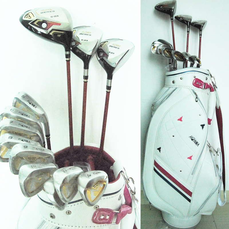 Подробнее о Cooyute New Womens Golf clubs HONMA S-03 Compelete set of clubs Golf Driver+3/5wood+irons+Bag Graphite Golf shaft Free shipping cooyute new womens golf clubs honma s 03 golf driver 12loft driver clubs graphite golf shaft and wood headcover free shipping