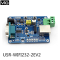 USR-WIFI232-2EV2 Direct Factory Evaluation Board Wifi to RS232 RS485 Module Support RTS/CTS w/ RJ45 Interface