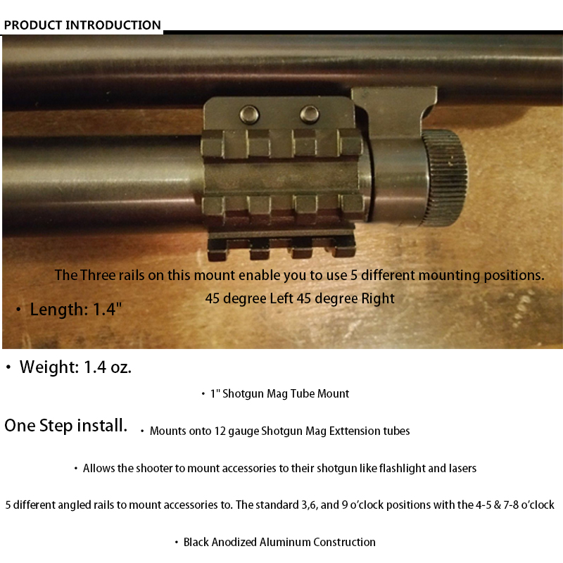 100% brand new 3PC Barrel mount 5 Position For Mossberg 500