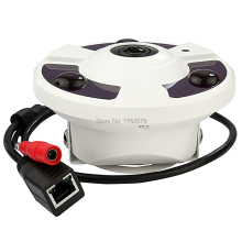 Fisheye 2592*1944 5MP@8fps network PTZ view 180degree 360 degree panoramic ip camera wide angle