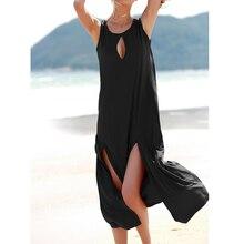 JSMY Women Sexy New Hole Split Irregular Long Dress Party Dresses Beach