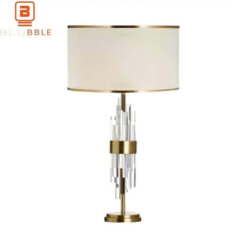 BLUBBLE Современные хрустальные Stick настольная лампа оригинальность Спальня светодиодный лампы Украсить настольная лампа AC 90 260 В исследовани