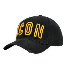 DSQICOND2 Brand 2019 DSQ Cotton Baseball Caps ICON Letters High Quality Cap Men Women Customer Design Hat Black Dad Hats