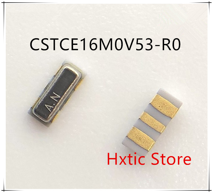 100pcs/lot CSTCE16M0V53 CSTCE16M0V53-R0 Ceramic Resonators SMD 16MHZ CSTCE16M