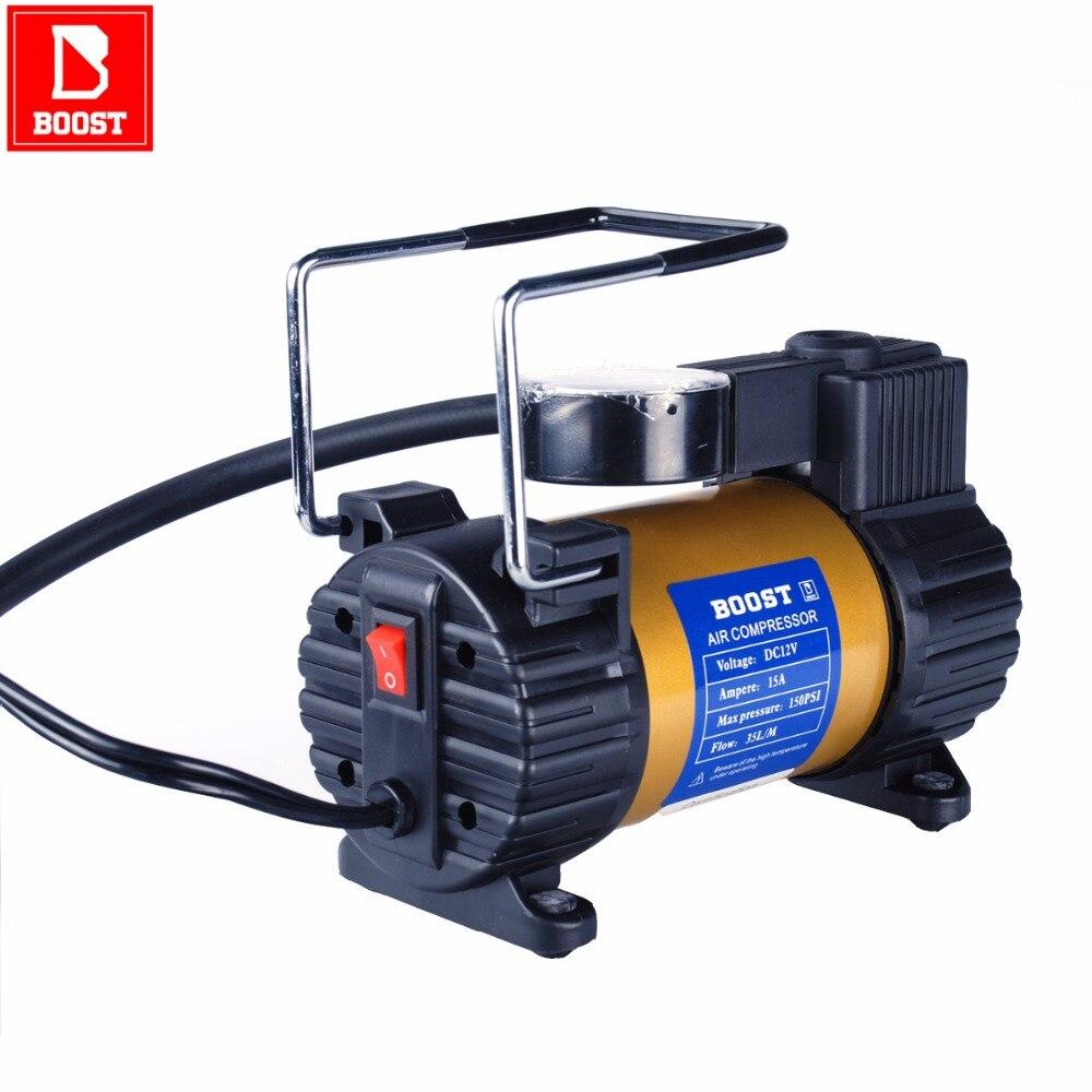 BOOST 587 12V Electric Car Inflatable Pumping Air Pumps Compressor 150 PSI