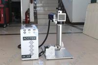 10 Вт 20 Вт 30 Вт волокна лазерный маркер машина, мини лазерный гравер для металлических и неметаллических