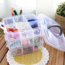 Multifunctional transparent jewelry box cosmetic plastic desktop storage