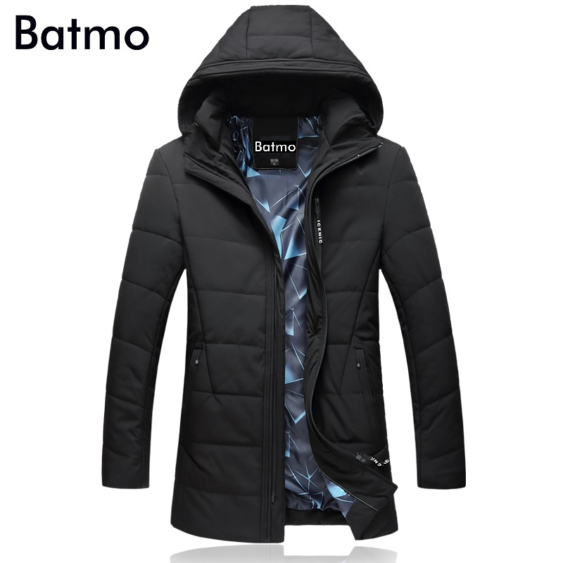 Batmo 2017 new arrival winter high quality thick hooded jackets men,casual mens park Par ...