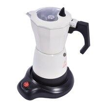 220-240 В 480 Вт Электрический горшок для кофе Mocha итальянский кофейник домашний офис электрическое Отопление кофе Mocha кофейное оборудование 6 чашек
