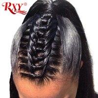 事前摘み取らフルレース人間の髪の毛のかつら髪rxyグルーレスストレートフルレースかつら用女性no remy黒ブラジルかつら