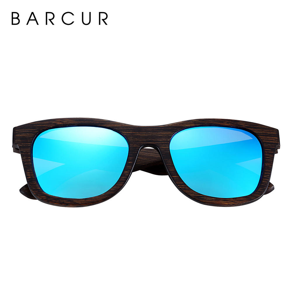 Image 3 - BARCUR Brown Glasses Retro Wood Eyewear Men Bamboo Sunglasses Women Unisex Sun Glasses with case Eyewear Oculos-in Men's Sunglasses from Apparel Accessories