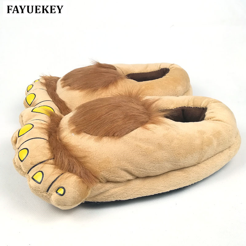 FAYUEKEY 4 Colours New Winter Women Miehet Vintage Home Cartoon Hobbit-varpaat Jalat Tossut Lovers Puuvilla Lämmin Lattia  t
