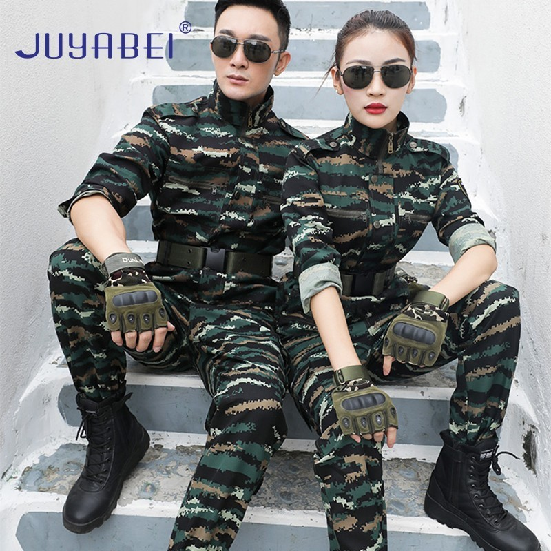 Tactical Camouflage Suit Suit Male Military Training Suit Special Forces Field Training Uniform Wear-resistant Military Uniform image
