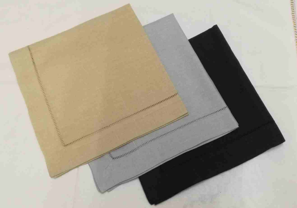 Set Of 600 Fashion Table Napkins  Handkerchiefs Towel Color Hemstitched Linen Napkins/Dinner Napkins For Dinner Party 20x20-inch