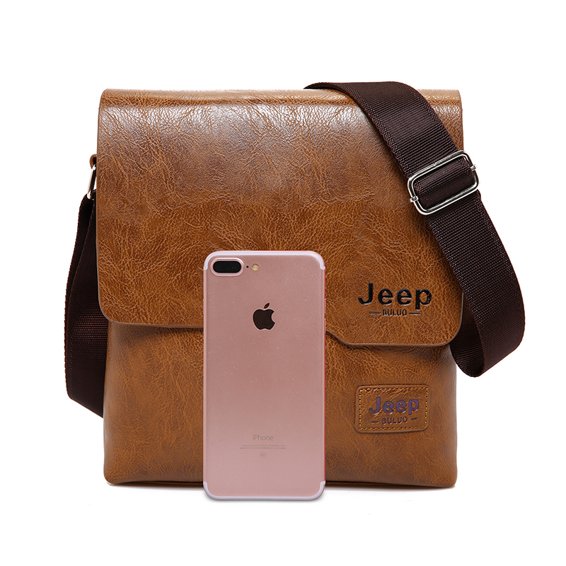 Men Tote Bags Set JEEP BULUO Famous Brand New Fashion Man Leather Messenger Bag Male Cross Body Shoulder Business Bags For Men 19