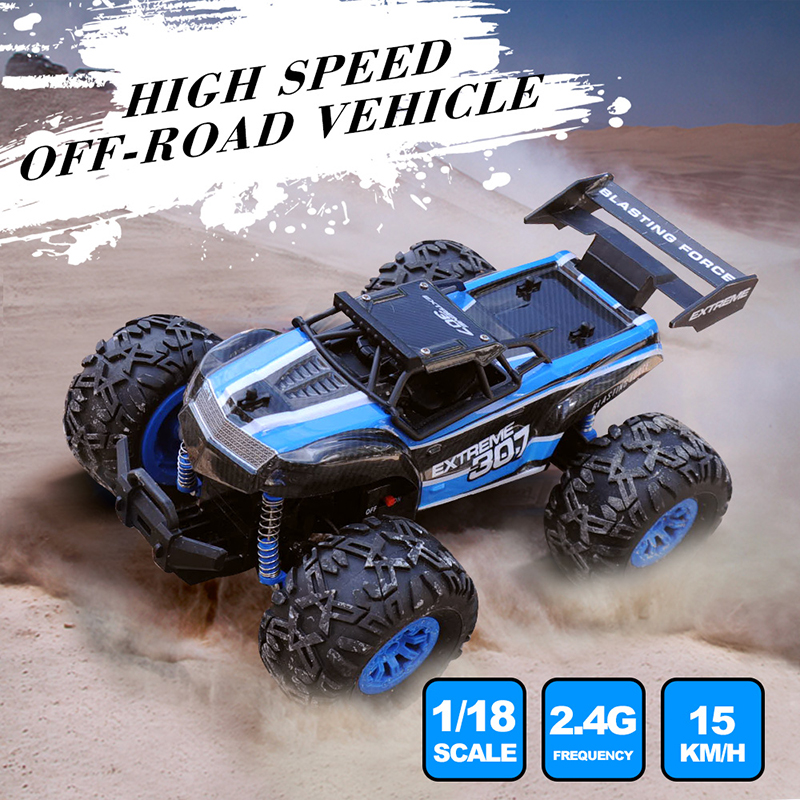1/18 RC Car 2.4G Monster Truck Car Remote Control Toys Controller Model Off-Road Vehicle Truck Toy Xmas Gifts For Kids