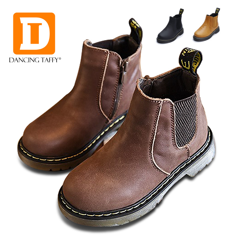 Martin Girls Boots New 2017 Autumn Winter Handmade Leather Comfortable Boys Boots Fashion Kids Boots High-quality Children Shoes 2014 new autumn and winter children s shoes ankle boots leather single boots bow princess boys and girls shoes y 451