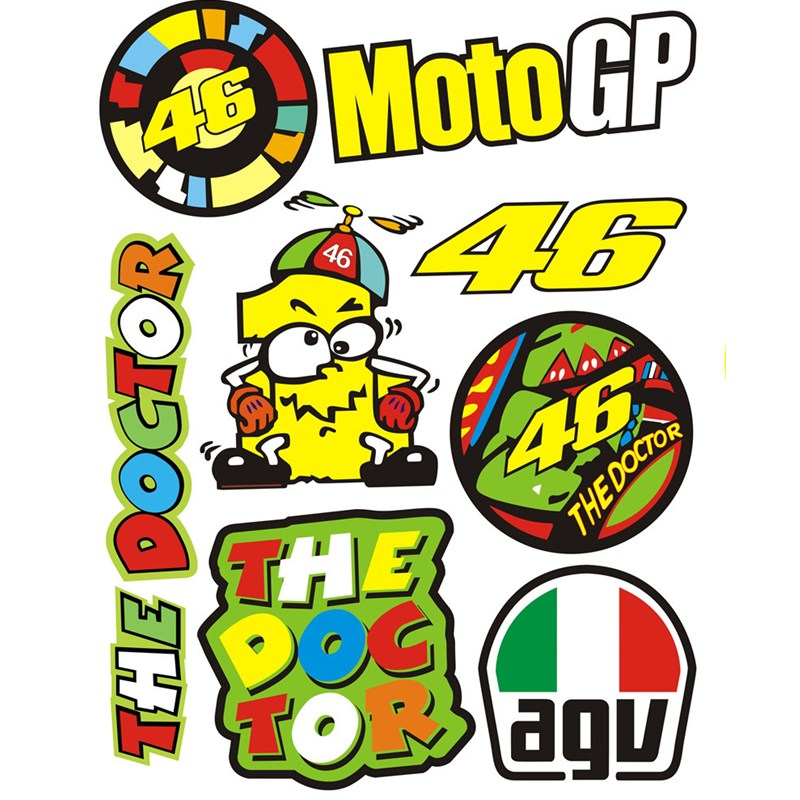 Popular 46 Rossi Stickers-Buy Cheap 46 Rossi Stickers lots ... Valentino Rossi The Doctor Font
