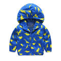 2016 hot sale baby girls boys long sleeve hooded print zipper jacket for age 3-7Y new arriving