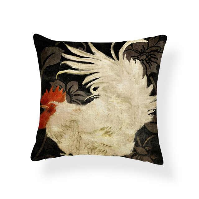 Kura kura niebieski żółty poduszka poduszka kwiat laska poduszki kolorowe proste łóżka artykuły gospodarstwa domowego czerwony rzucać poduszka 17.7 Cal poliester ciepłe