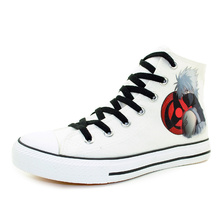The Naruto Styles Shoes Fashion Anime Canvas Shoes Kakashi Cosplay Shoes Flat High Top Men Sneakers Teenagers Vulcanized Shoes