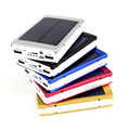 Портативный Солнечный Банк силы 12000 МАЧ bateria externa portatil Dual USB LED Внешний Аккумулятор Мобильного Телефона Зарядное Устройство Резервного Копирования Powerbank