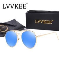 2017 New Hot LVVKEE Brand Top Design Men Polarized Sunglasses Driving Women Sunglasses Vintage Luxury Brands