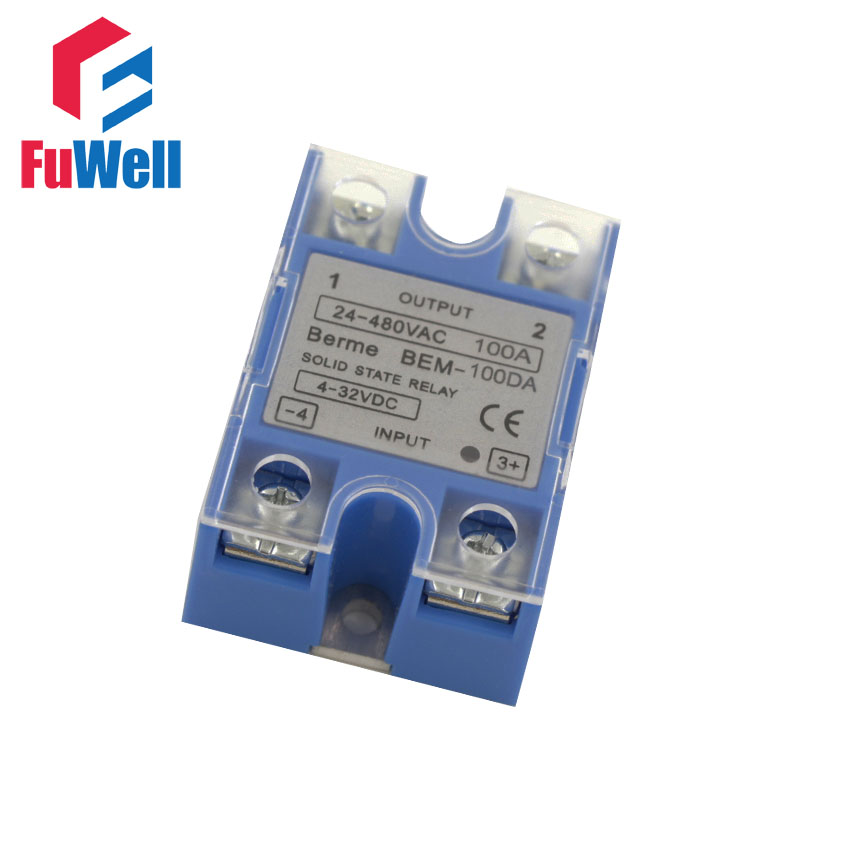 High Quality  Singe Phrase 100A SSR Solid State Relay BEM-100DA/BEM-100AA Blue james milton a good turn of phrase phrasal verbs