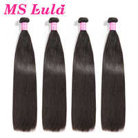 Ms Lula Hair Brazilian Hair Wave Straight 4 Bundles Deal 100% Human Hair Extension Double weft Remy Hair Free Shipping