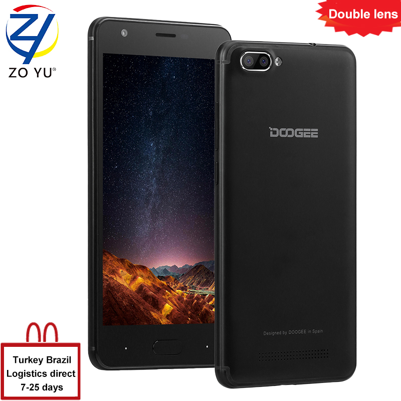 DOOGEE X20 Smartphone Dual Rear 3G Android 7 0 Cameras Mobile Phones 5 0 HD MT6580