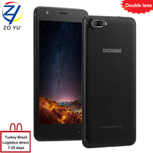 DOOGEE X20 Smartphone Dual Rear 3G Android 7.0 Cameras Mobile Phones 5.0 HD MT6580 Quad Core 2GB+16GB 5MP+5MP 2580mah cell phone