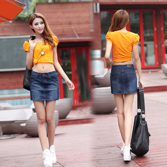 5dc1bc3c31c6 New Fashion Summer women's denim jean mini skirt wear 2013 Free Shipping  +wholesale for factroy,