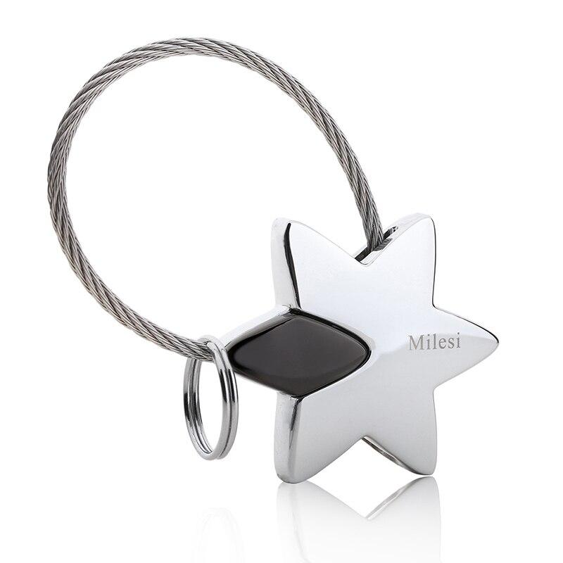Milesi Étoiles En Métal Porte-clés Amant Porte-clés Couple porte-clés souvenir pendentif Articles innovants llaveros porte clef Cadeau 7537_2