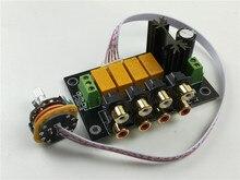 HIFI Lossless Audio 4 คู่ RCA input Source SELECTOR สัญญาณตัวเลือกการสลับ Switcher SWITCH Splitter สำหรับ Preamp เครื่องขยายเสียง