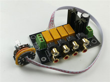 Hifi Lossless אודיו 4 זוגות RCA קלט מקור בורר בורר אות מיתוג Switcher מתג ספליטר עבור Preamp מגבר