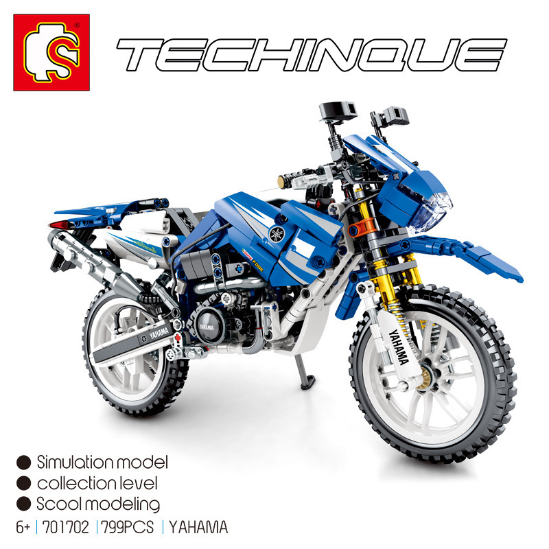 Sembo 701702 799 Pcs Technic Series Motorcycle Building Blocks Bricks Educational Motorbike Model Kids toys
