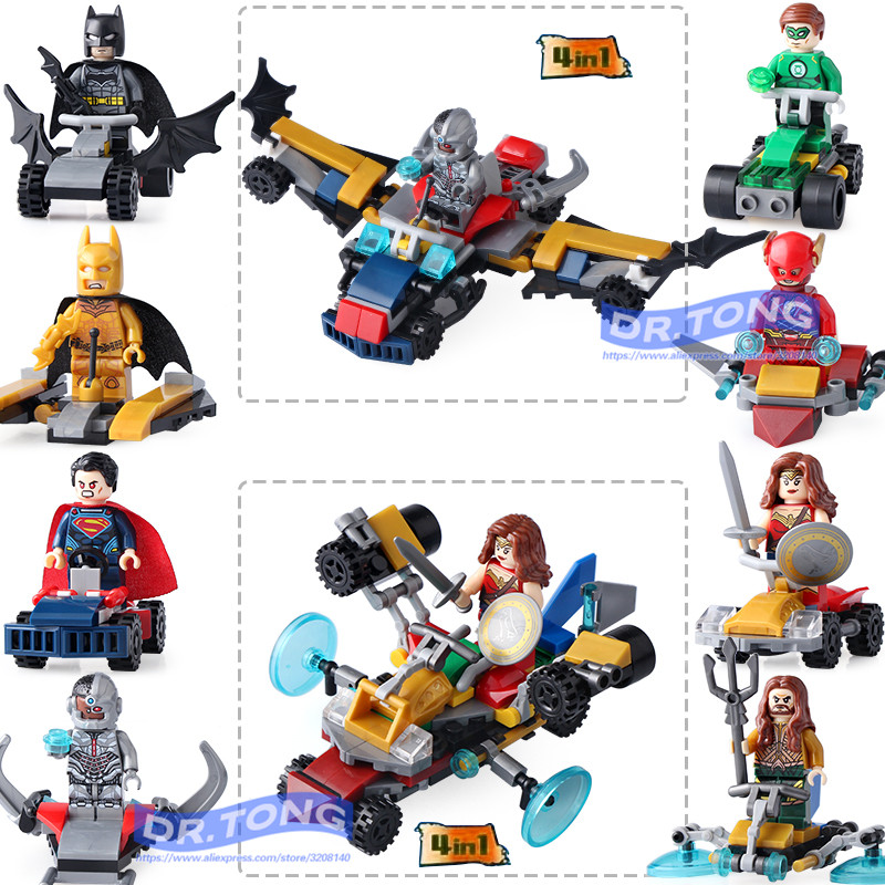 US $6 05 11% OFF|8pcs/lot Dlp9068 Super Hero Marvel Avengers Action Figures  Superman Batman Wonder Woman Robin Building Blocks Bricks Toys Chil-in