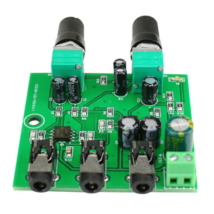 Image 4 - GHXAMP Two Way Stereo Audio Signal Mixer Board For One Way amplification Output Headset Amplifier audio DIY (2 Input 1 Output)