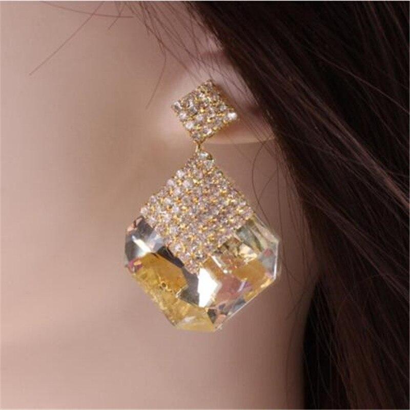 Fashion élégant femme cristal Strass Ear Stud Drop Dangle Boucles d/'oreilles Chaîne Nouveau