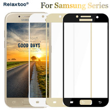 Tempered Glass for samsung j2 2018 j3 j5 j7 2017 pro a3 a5 a7 a8 plus 2016 galaxy s7 s6 case Protector full cover Screen film(China)