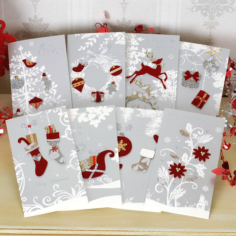 High Quality Christmas Paper Greeting Cards 3d Embossed Invitation ...