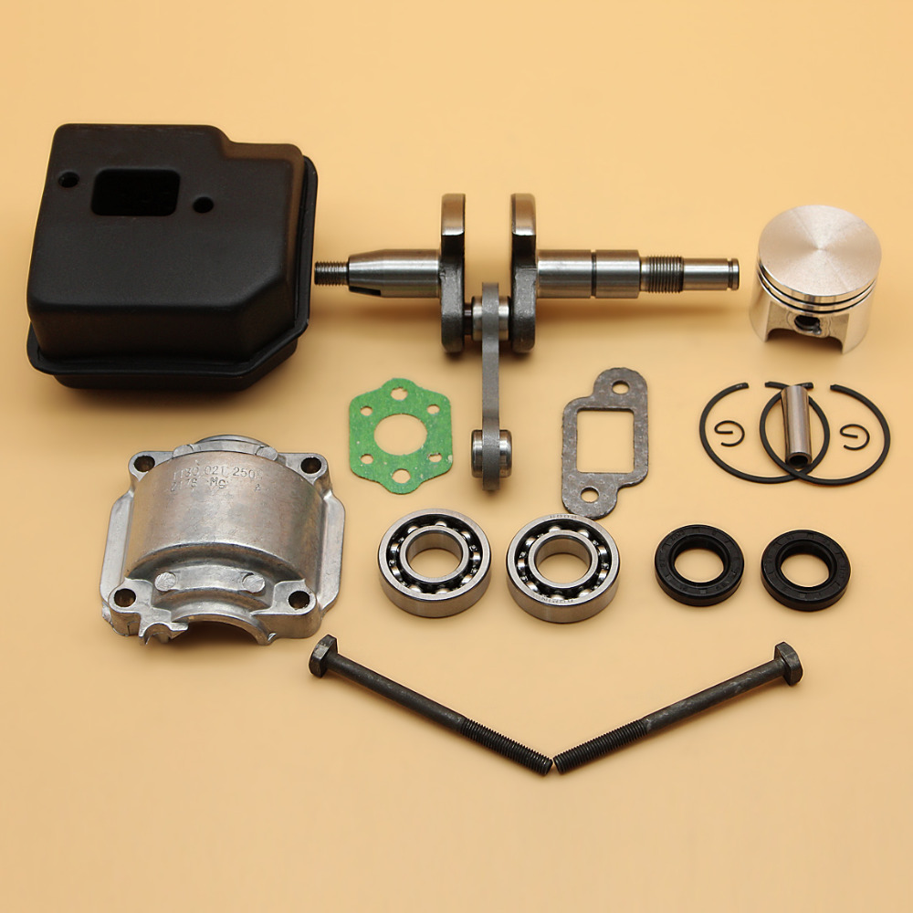 8MM Crankshaft/ Muffler Exhaust/ 37MM Piston Bearing Oil Seal Kit For STIHL 017 MS170 MS 170 Chainsaw Engine Parts цена