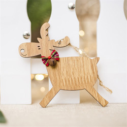Christmas Deer Wooden Pendants Ornaments for Xmas Tree DIY Ornament Christmas Party Decorations Kids Gift hanging drop ornaments 2