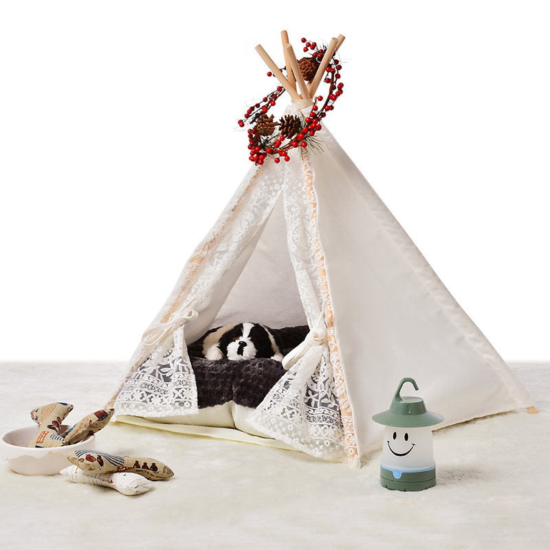 New design lace cotton pet nest Pet play House play teepee tent lovely warm dog play bed-in Toy Tents from Toys u0026 Hobbies on Aliexpress.com | Alibaba Group  sc 1 st  AliExpress.com & New design lace cotton pet nest Pet play House play teepee tent ...