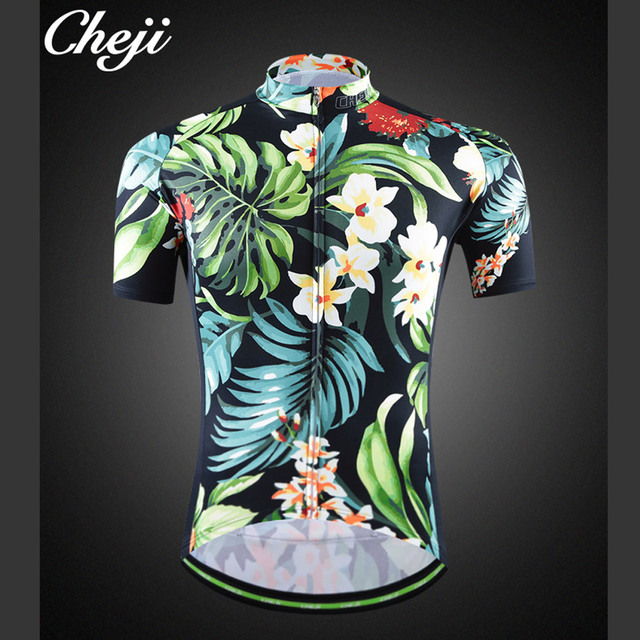 afa521168 Vintage Flower Cycling Jersey Men Retro Mtb Bike Bicycle Clothing  Reflective Ropa Ciclismo Race Fit Maillot