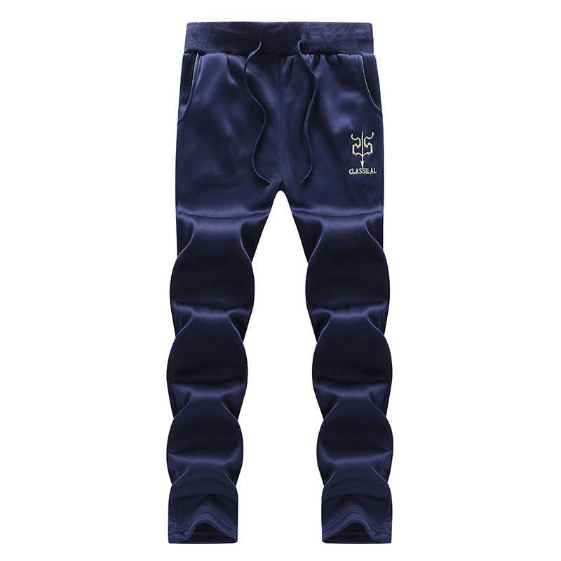 Chándales conjuntos de ropa deportiva de marca para hombre 2 uds. Conjunto de sudadera y pantalones de gimnasios Otoño Invierno ropa de chándal de lana