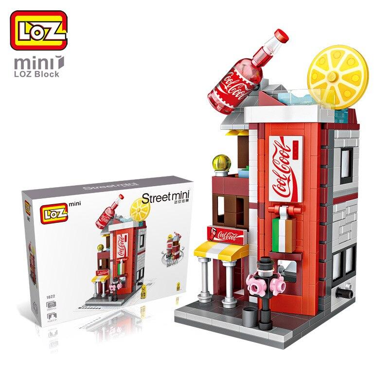 LOZ Mini Cola Drinks Shop Store City Street Series