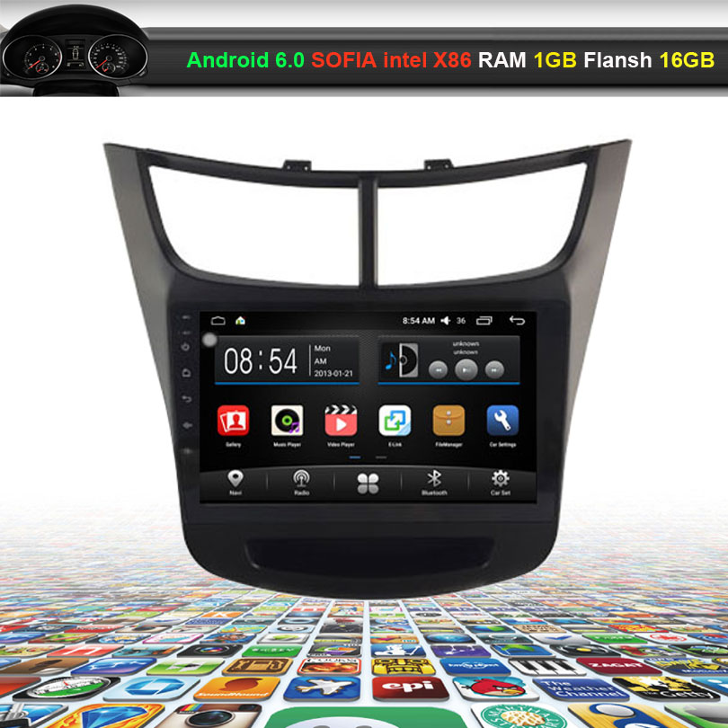 9 inch Car Video Audio Player for Chevrolet new sail (2015 low) with GPS Navigation Bluetooth Wifi (NO DVD)